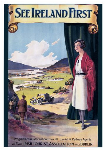 See Ireland First. Irish Tourist Association Travel Poster